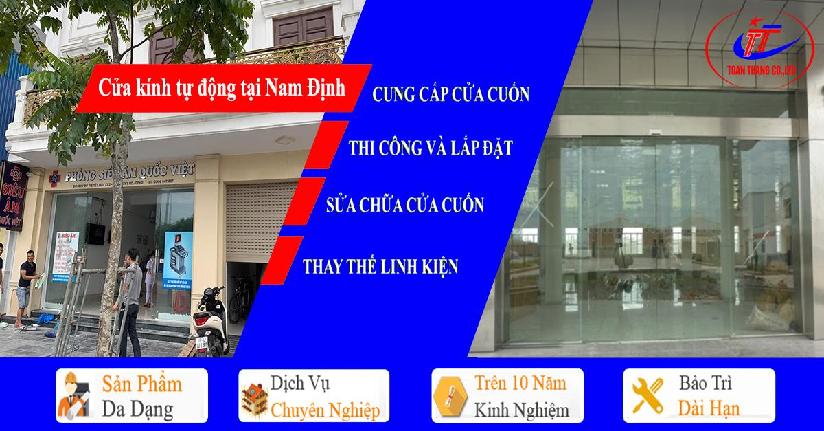 Cửa kính tự động tại Nam Định