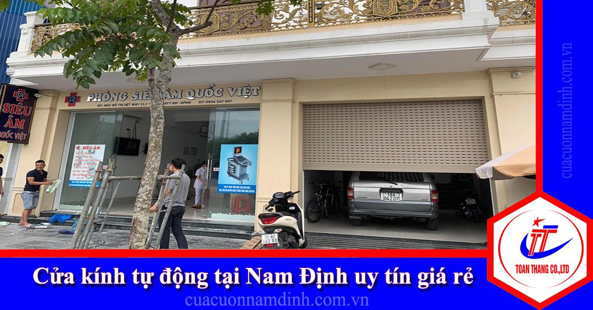 Cửa kính tự động tại Nam Định uy tín giá rẻ